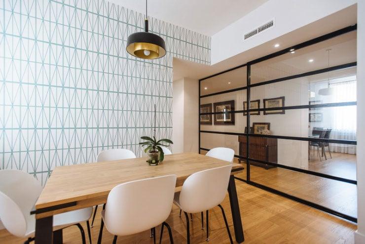 Reforma espacio salon edificio moderno